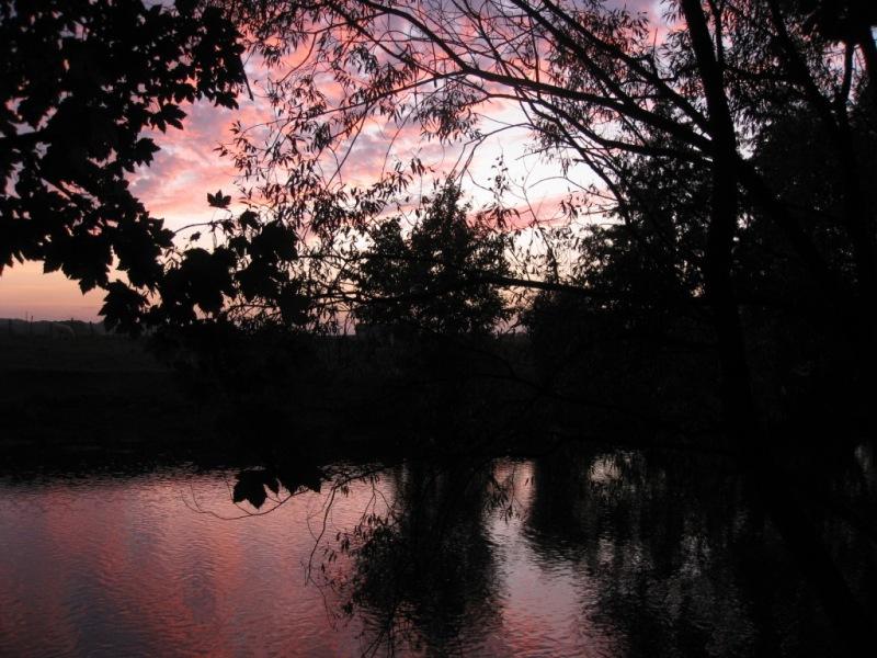 Couché de soleil sur la Marne