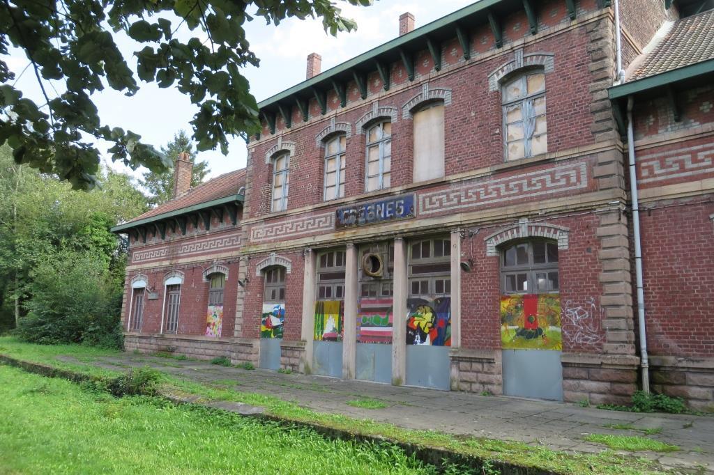 Ancienne gare sur la voie verte des gueules noires