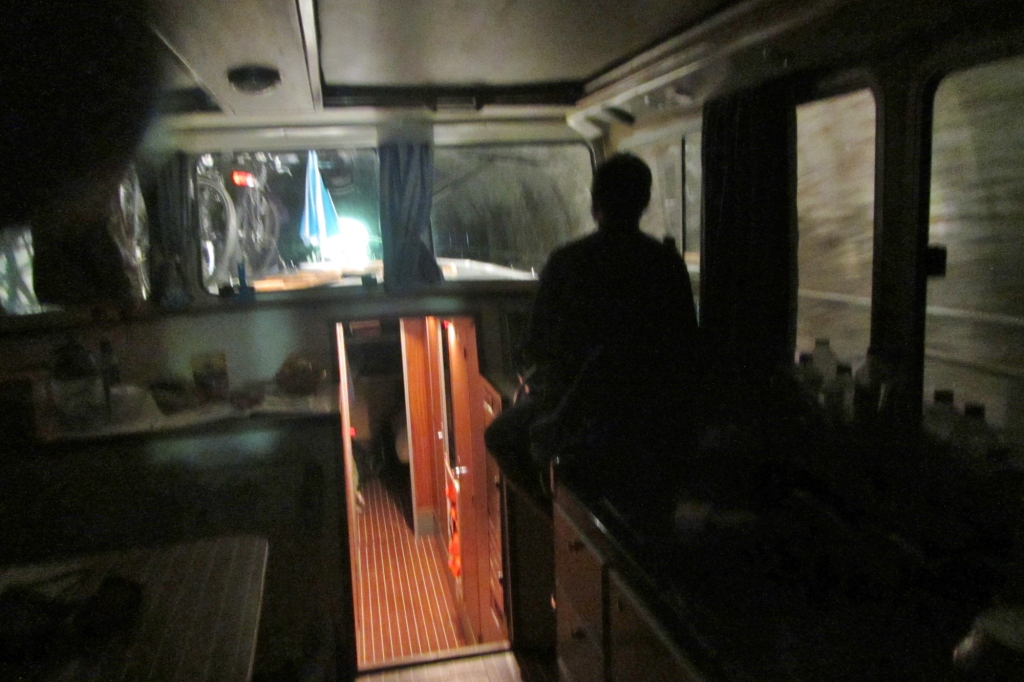 Dans le tunnel de la Colancelle
