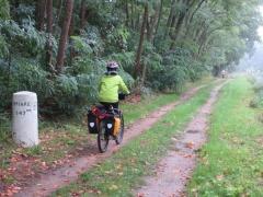 A vélo sur le latéral