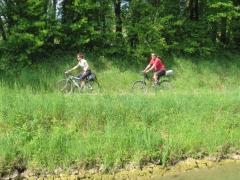 En bateau, on voit passer les vélos