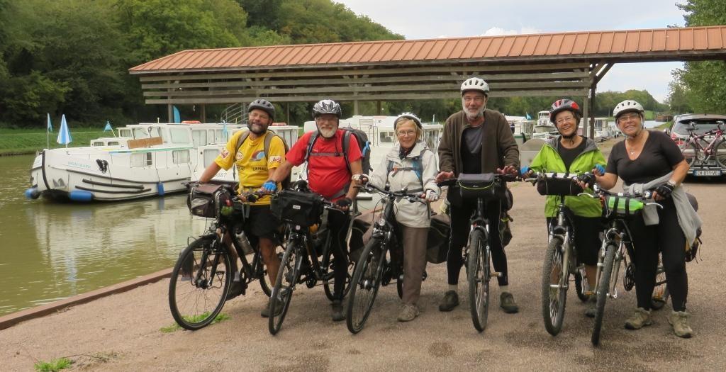 Départ à vélo de la base de Corbigny