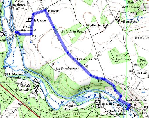 canal de briare carte Canal de Briare « Vélo Canaux Dodo